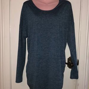 Lucy Tops - Lucy heather blue long sleeved top size XL